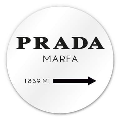 Alu-Dibond - Prada Marfa - Rund
