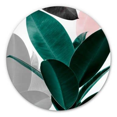 Alu-Dibond Sisi & Seb - Blätterspiele - Rund