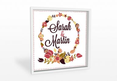 Forex print + Custon text - Floral wreath