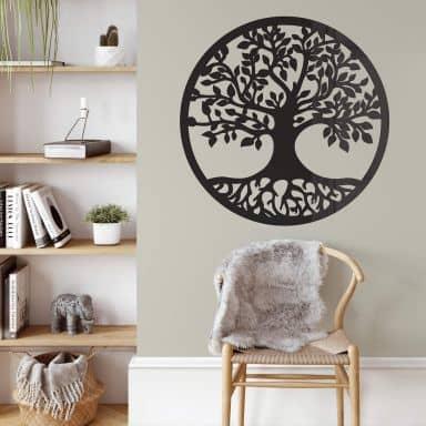 Acryldeko Baum mit Wurzeln