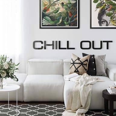 Lettre décorative en verre acrylique - Chill out