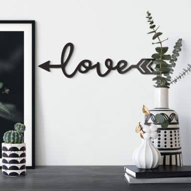 Acrylic Letters Love Arrow