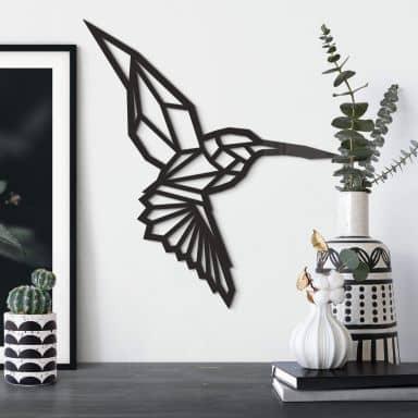 Origami Kolibrie van acrylglas