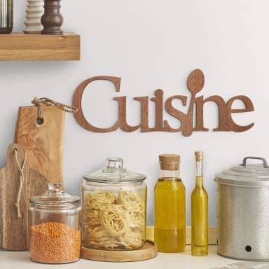 Décoration en bois placage acajou - Cuisine