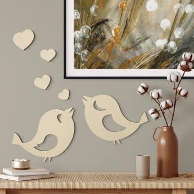 Wood - Lovebirds - poplar
