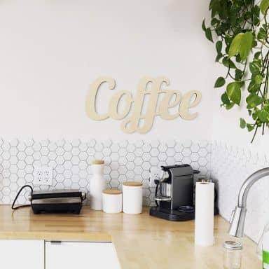 Scritta in legno - Coffee