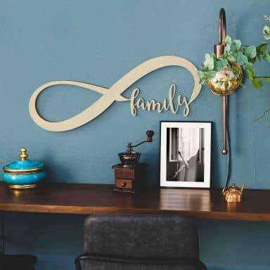 Decorazione in legno - Famiglia per sempre