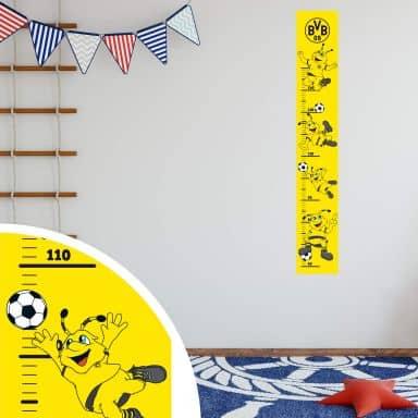 Wall sticker BVB Measuring Chart - 19x120 cm
