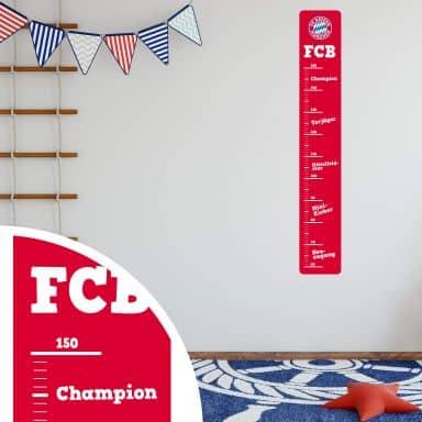 Wandsticker FC Bayern München Messlatte