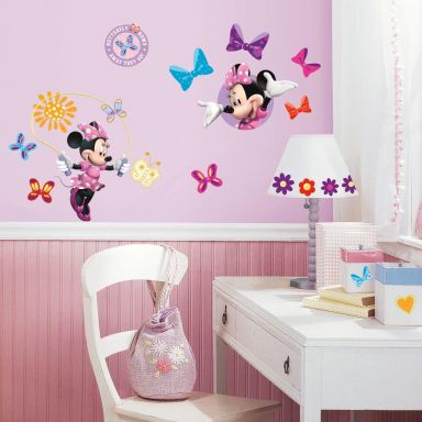 Muursticker set Minnie Mouse