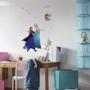 Wandsticker Disney Die Eiskönigin - Anna & Elsa 15-teilig