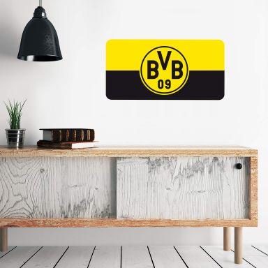 Wandtattoo BVB 09 Schriftzug Banner schwarz//gelb Dortmund Fu/ßball Bundesliga Fans Borussia Wall-Art 10