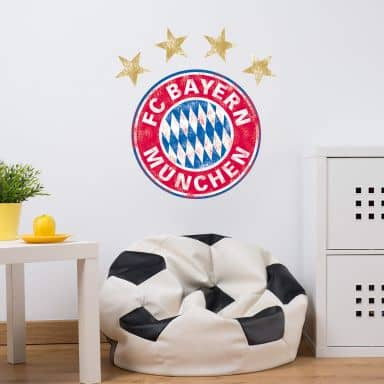 Muursticker Bayern München - Logo used look