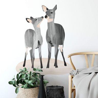Wall sticker Goed Blauw - Deer