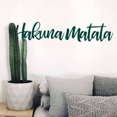 Sticker mural Hakuna Matata 06