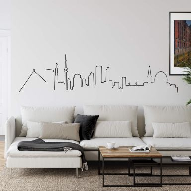 Wandtattoo Hamburg Skyline Outline
