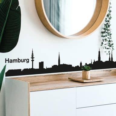 Muursticker Hamburg Skyline