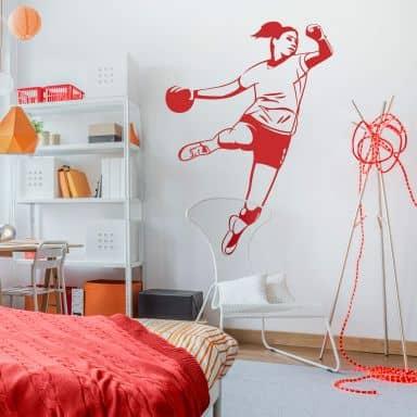 Sticker mural - Joueuse de handball
