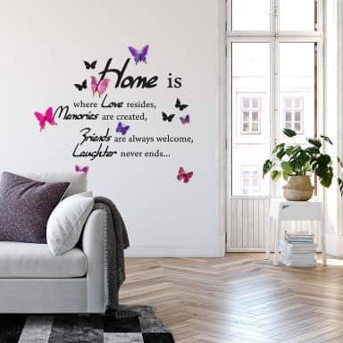 Muursticker Home is Where Love Resides