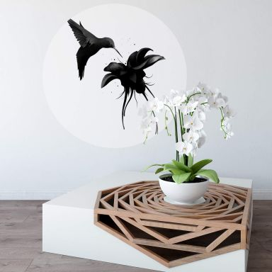 Wall sticker Round Ireland - Hummingbird