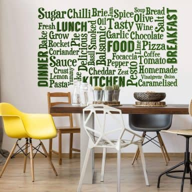 Wall sticker Kitchen word cloud