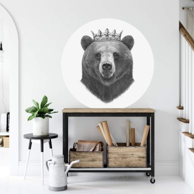 Wandtattoo Korenkova - King Bear - Rund