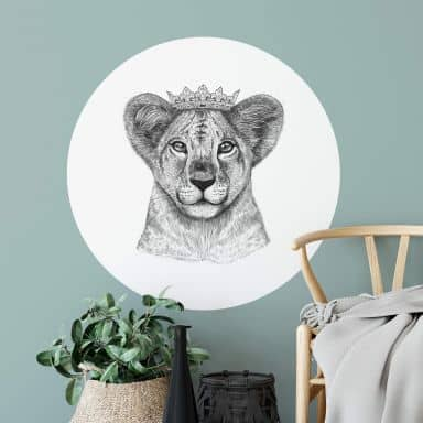 Wandtattoo Korenkova - The Lion Princess - Rund