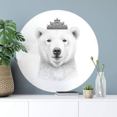 Wandtattoo Korenkova - Queen Bear - Rund