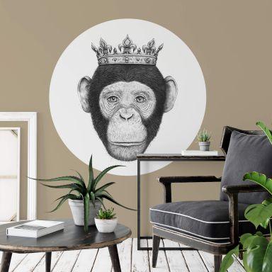 Sticker mural Korenkova - Le roi Singe  - Rond