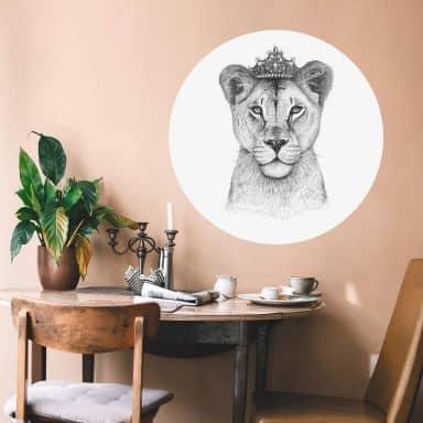 Wandtattoo Korenkova - The Lioness Queen - Rund