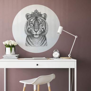 Adesivo murale Korenkova - Tigress Queen - tondo