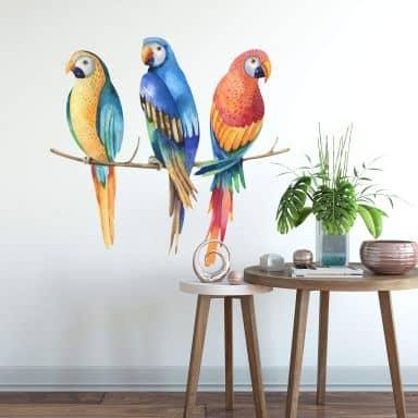 Wandtattoo Kristina Kvilis - drei Papageien