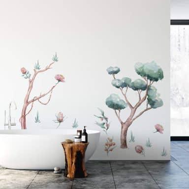 Wandtattoo Kvilis - Pflanzenwelt Australien (15-teilig) - 140x100 cm