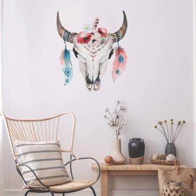 Sticker mural Kvilis - Bohemian Skull