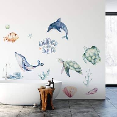 Adesivo murale Kvilis - Under the see 24 pz.