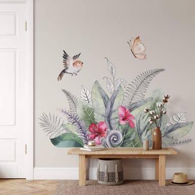 Wandtattoo Kvilis - Dekorative Tropenpflanzen
