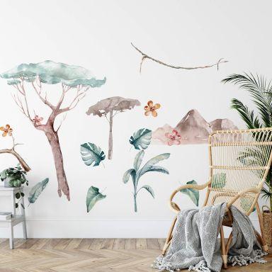 Adesivo murale Kvilis -  Set giungla (18 pz.)