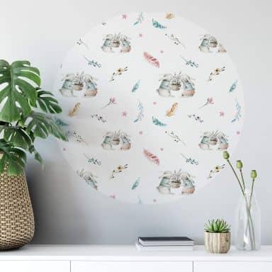 Wall sticker round  Kvilis - Bunnies