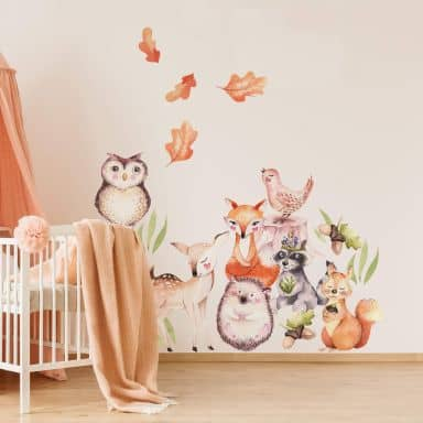Wall Sticker Kvilis - Cute forest animals set