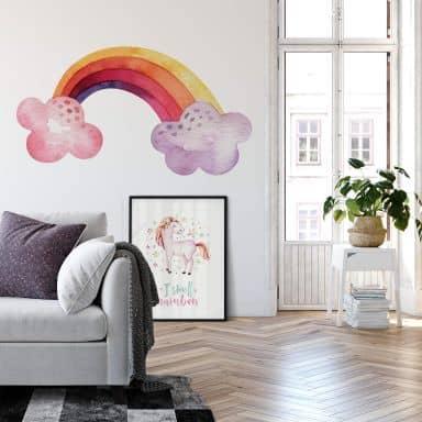 Wandtattoo Kvilis - Regenbogen