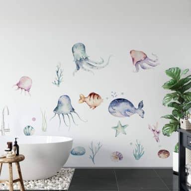 Adesivo murale Kvilis - Infondo al mar 25 pz.