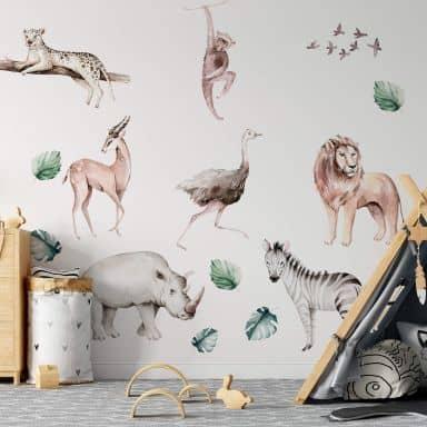 Adesivo murale Kvilis - Animali (20-pz.)