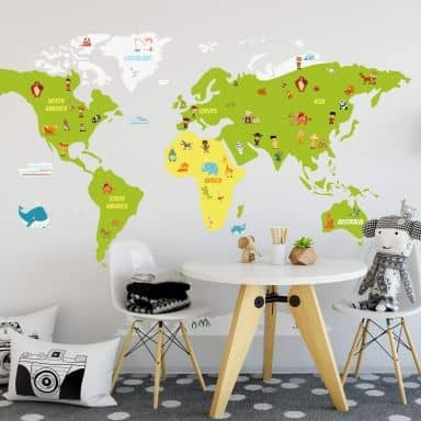 Wall sticker World Map for Kids