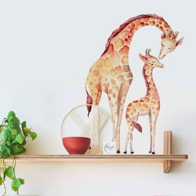 Adesivo murale Kvilis - Giraffe