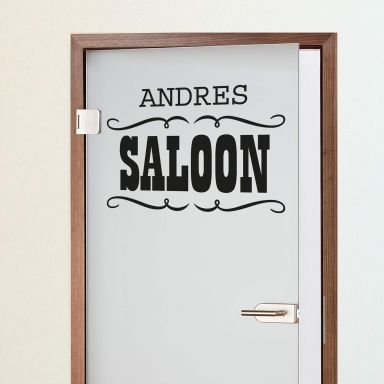 Name + Saloon Wall sticker