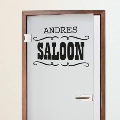 Name + Saloon Wall sticker
