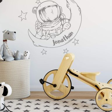 Wall sticker Astronaut + Name