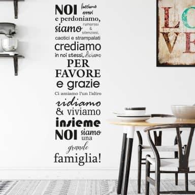 Adesivo murale - Noi siamo una famiglia