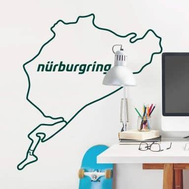 Muursticker Nürburgring Silhouet