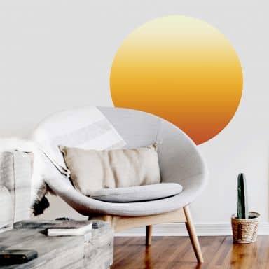Zelfklevende Wandcirkel - Sunset Ombre